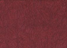 Burgundy Crinkle Nylon Fabric