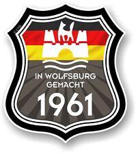 À wolfsburg umfang 1961 made in wolfsburg shield pour vw camper van autocollant voiture
