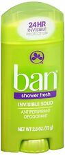 Ban Anti-Perspirant Deodorant Invisible Solid Shower Fresh 2.60 oz (Pack of 2)