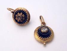 Lot de bijoux anciens en or 18K onyx diamants 1 dormeuse 1 pendentif 5g NAP III