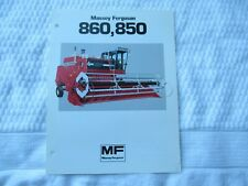 Massey Ferguson MF 860 850 combine specification sheet brochure