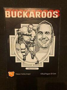 1971-72 WHL Hockey Program Portland Buckaroos VS Seattle Totems Mike Donaldson