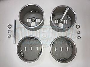 Front Air Bag Brackets - Universal Cup Mount Set w/ Hardware - FREE SHIPPING
