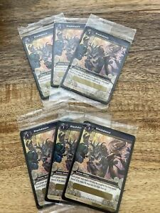 Lot Of 6 Slashdance Loot Card Unscratched World of Warcraft CCG TCG Drums WoW