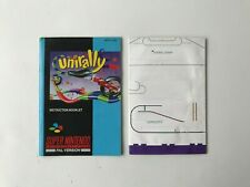 Unirally - Super Nintendo/SNES (Instruction Booklet/Manual + Map Poster Only)