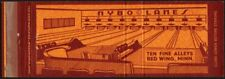 Vintage matchbook cover NYBO LANES full length bowling pic Red Wing Minnesota