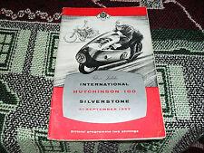 Programa 1957 Silverstone 21/9/57 - internacional Hutchinson 100