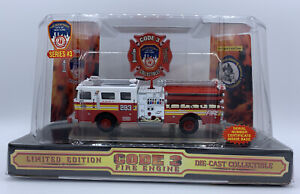 CODE 3 SEAGRAVE FDNY ENGINE 283- 1998 PRODUCTION-SEALED IN ORIG BUBBLE w/SLEEVE