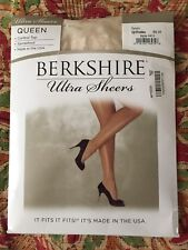 Berkshire Ultra Sheers Queen Control Top Sandalfoot Ivory Q/Petite Style 4411