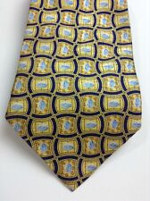 Pfizer Mens Neck Tie 100% Silk Yellow Viagra Abstract