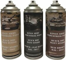 Kings Army Spray Paint Cans 400ml Desert Camo Pack Military paintball airsoft