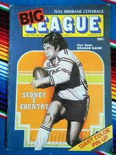 ✺ BIG LEAGUE MAGAZINE 1977 Vol 58 No 13 MANLY SEA EAGLES Graham Eadie Rugby Week