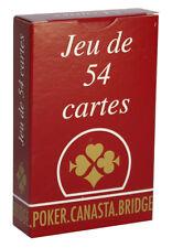 JEU DE 54 CARTES - DOS ROUGE - FRANCE CARTES - POUR POKER - RAMI - BRIDGE