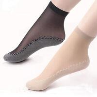 10 Pairs Summer Women Short Stockings Anti-Slip Breathable Cotton Bottom Socks^