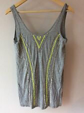 NEW * Sportsgirl Vest top singlet Sequin embellished beaded top Aztec RRP£39.95