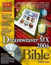 Dreamweaver MX 2004 Bible, Lowery, Joseph, 0764543504, Book, Acceptable