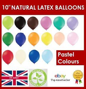 "10"" BALLOONS Pearl Pastel Natural Latex Helium Air Birthday Party Premium Plain"