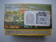 Marquant mwr-1900 8 banda radio digital with alarma Clock FM/MW/SW