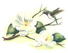 "4 Magnolia Hummingbird 2"" Waterslide Ceramic Decals Bx"