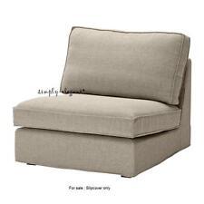 IKEA Kivik COVER for KIVIK One Seat Section Chair Slipcover - Teno Light Gray