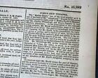 ABRAHAM LINCOLN & John Wilkes Booth at Ford's Theatre 1863 Civil War Newspaper