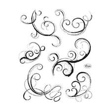 Viva Decor A5 Clear Silicone Stamps Set - Curlicue 2 #149