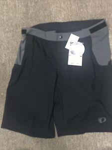 NWT $80 Pearl Izumi Men's Cycling Bike Shorts Black Lined Padded sz L Large