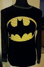 Batman long-sleeve Cotton/Spandex T-shirt - size Adult Large
