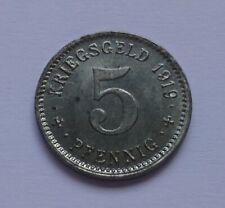 Notgeld: Stadt Wattenscheid 5 Pfennig 1919, Kriegsgeld - War money