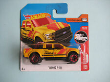 Diecast Hotwheels HW Rescue '15 Ford F-150 Yellow on Blister