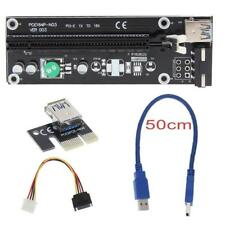 50cm USB3.0 PCI-E PCI Express 1x to16x Extender Riser Card Adapter Set of 6 NEW