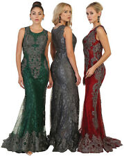 DESIGNER BEAUTY PAGEANT EMBROIDERED RED CARPET DRESSES PROM FORMAL EVENING GOWN