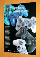playstation 1 PS1 controller DualShock Official Rare Promo Vintage Poster Ad Art