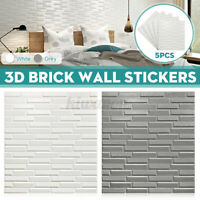 5PCS 70*77cm Foam 3D Tile Brick Wall Sticker Self-Adhesive Waterproo