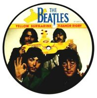 """New! The Beatles Picture Disc 7"""" Vinyl Eleanor Rigby Yellow Submarine 20th Anniv"""