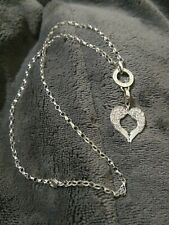 THOMAS SABO GLAM & SOUL CZ SET ANGEL FEATHER WING HEART PENDANT & TS CHAIN