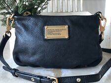MARC BY MARC JACOBS PERCY Black Pebbled Leather Crossbody Shoulder Bag Small EUC