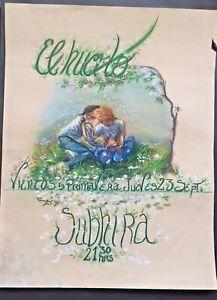 Fine large pastel painting Advertising Graphic design Vintage Drawing, urban art