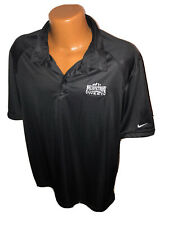 Mountain West Conference Nike Black Polo Golf Shirt Size Large