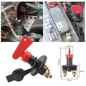 Universal 12V Battery Isolator Switch Cut Off Switch for Car Boat Van Truck UK