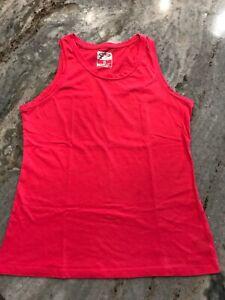 Women's S Champion Tank Top C9 DuoDry Pink Cotton Blend Stretch