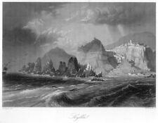 Scilla, Kalabrien, Originalstahlstich von 1859