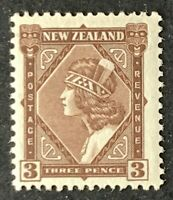 New Zealand. Three Pence Stamp. SG561. 1935. Lightly Mounted.  #AH284