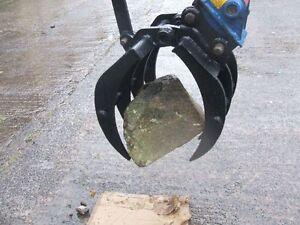 Manual Mechanical Grapple / Grab for Excavator / Digger 6 - 8 Ton