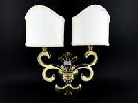 Luce lampada da parete oro ottone classica stoffa tessile anche