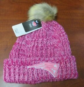 Women's '47 Brand NE Patriots Pink Meeko Cuff Knit Beanie NFL New NWT Hat