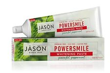 Jason POWER SMILE Whitening Paste Peppermint Non Fluoride TOOTHPASTE 170g