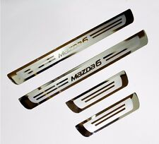 Stainless Door Sill Kick Step Scuff Plate Protector for Mazda 6 12-19 GJ GL