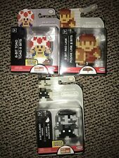 World of Nintendo NEW LOT Of 3 Jakks Pacific Figures! Pixel Toad Link B&w MARIO