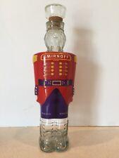 Vintage 1998 SMIRNOFF Vodka Nutcracker Glass Bottle 750ML Excellent Condition